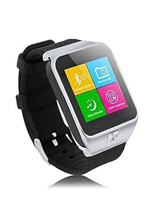 ZGPAX Bluetooth V3.0 Reloj elegante desbloqueado SIM reloj telefono inteligente pulsera sincronizacion Call Musica