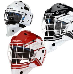 6ad4dd042a0 Image Unavailable. Image not available for. Color  Bauer NME 5 Hockey  Goalie Mask (JR White)