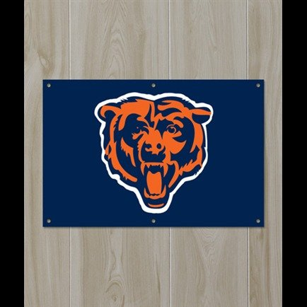 Chicago Bears Official NFL 24 inch x 36 inch Banner Flag by Party Animal ()