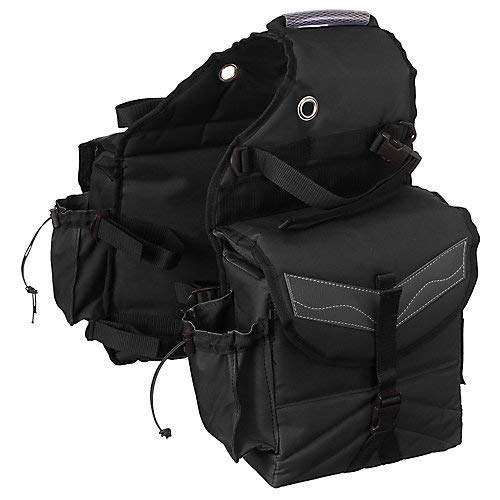 (Tough-1 Insulated Saddle Bag with Pockets Brown )