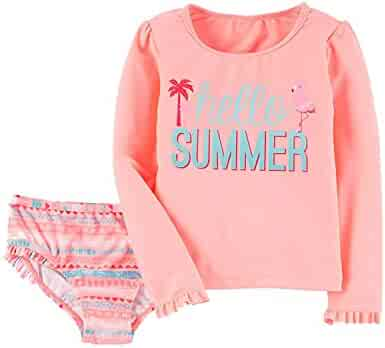 34ea17c83 Just One You Made by Carter's Baby Girls Rash Guard & Bottoms Set - Peach  Hello