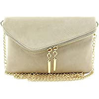 Envelope Wristlet Clutch Crossbody Bag with Chain Strap