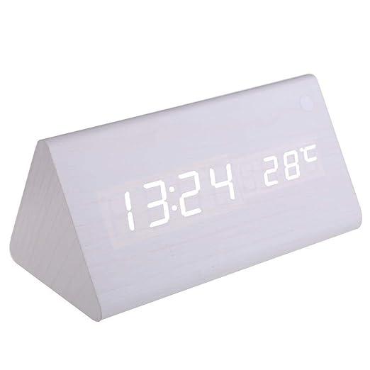 LALLing Reloj Despertador Digital Calendario Termómetro para ...