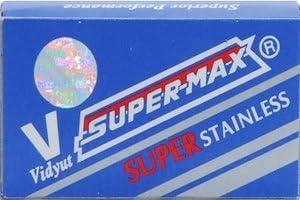 10 cuchillas de afeitar Super-Max Super Stainless (1 paquete)