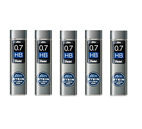 Pentel Ain Stein 200 Minas (5 Tubos) 0.7mm HB   (D8HQ)