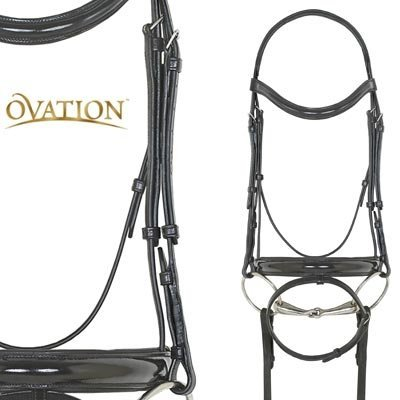 Ovation Dressage Bridle w/Leather Browband Horse ()
