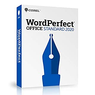 Corel WordPerfect Office 2020 Standard Upgrade - Word Processor, Spreadsheet, Presentation - Newsletters, Fillable PDF Forms [PC Disc]