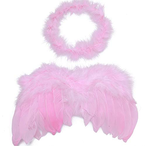 Props Pos - Infant Born Headwear Baby Kids Angel Fairy Feather Wing Hairbands Costume Photo Prop Party - Dvotinst Photo Princess Cosplay Prop Fairy Wing Cocoon Photography Felt Wing Fanc ()