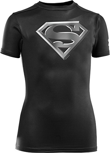 Boys Under Armour Super Hero Fitted Baselayer Superman Shirt Size Large