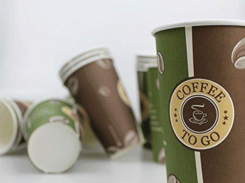 Kaffeebecher 50St. - 1000St. 0,4l Pappe Pappe Pappe 'Coffee to go' Kaffee Becher Pappe, Wunsch 500 Stück B01H6G263E Trinkbecher & Zubehr dc7e36