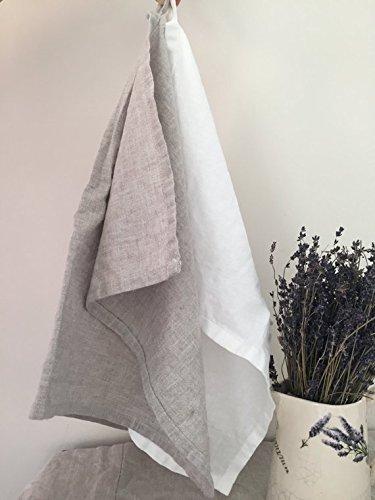 Pure Linen Tea Towel in Natural Color