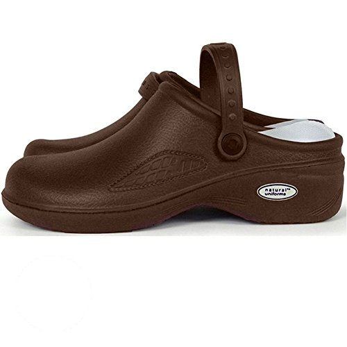 Natural Uniforms - Women's Lightweight Comfortable Nurse/Nursing Clogs-Choc-8 (Womens Brown Clogs)