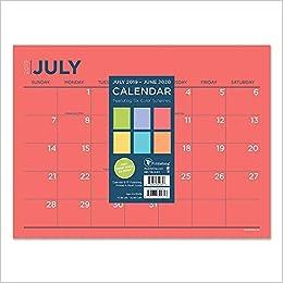 Mini Desk Calendar 2020 Color Schemes Mini Desk Wall 2020 Calendar: July 2019   June 2020