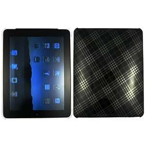 Grey Black Smoke Diagonal Checker Hard Skin Case Cover for Apple iPad One 1st Gen 1 iPAD1