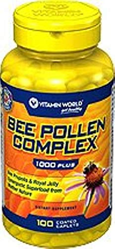 Vitamin World Bee Pollen Complex 1,000 mg. 100 caplets by Vitamin World