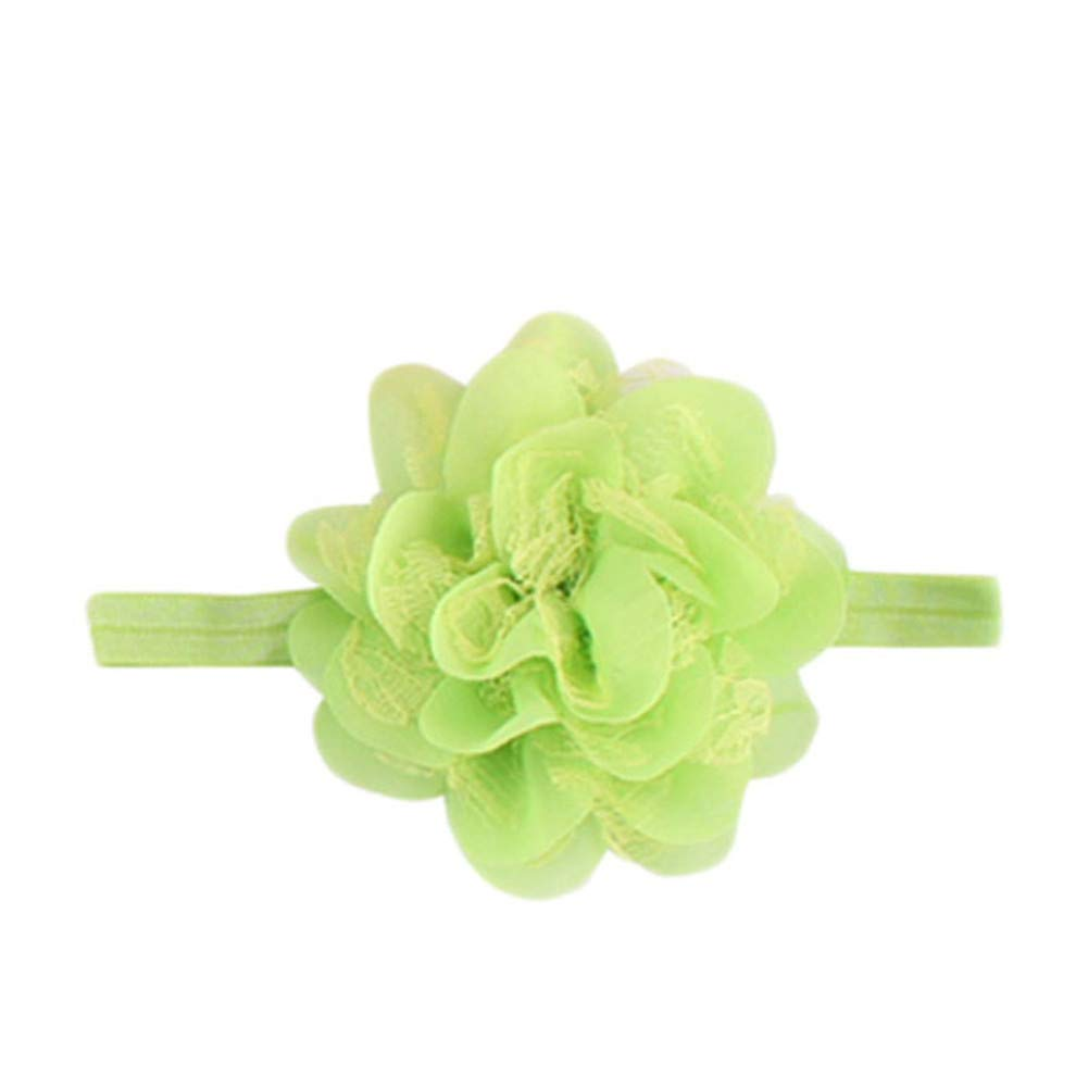 Newmao Toddler Girls Fashion Solid Lace Flowers Handband Princess Casual Accessories (D)