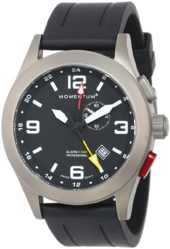 St. Moritz Momentum Watch Corp Vortech GMT Titanium Watch with Alarm