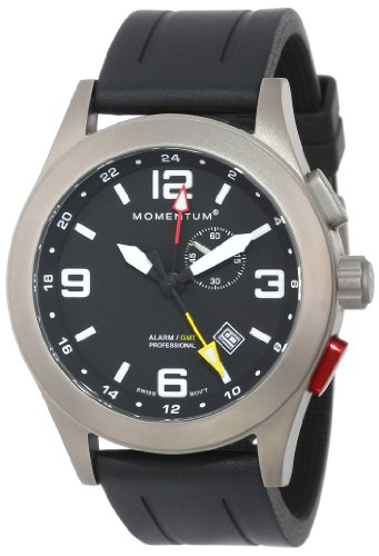 Momentum Men's 1M-SP58B1B Quartz Analog Alarm Watch