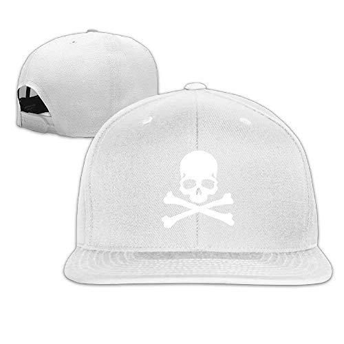 Skull Icon Bones Logo Clip Art Unisex Cotton Adjustable Flat Brim Baseball Hats - Bone Clipart