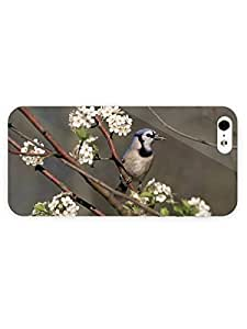 3d Full Wrap Case for iPhone 5/5s Animal Bird In Flowers