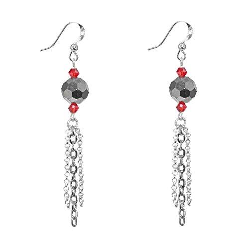 Créative Perles - Boucles D'Oreilles Futuristes - Gris