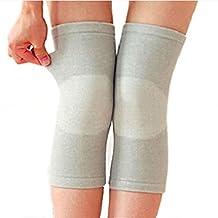 Ultra-thin Bamboo Charcoal Fiber Knees Warm Keeper Knee Sleeve Leg Support Brace Pads Kneecap For Outdoor Sports Volleyball Basketball Dance Cycling Climbing Yoga (M)