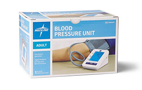 Amazon.com: Medline Automatic Digital Blood Pressure Monitor with Standard Adult Cuff for Upper Arm, with Large LED Display, Batteries Included, ...