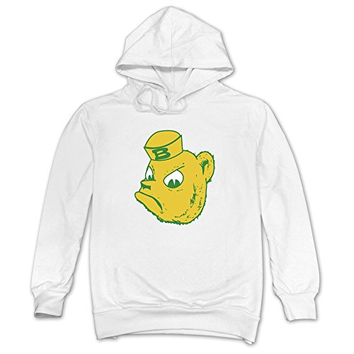 Men's Baylor Bears B Hoodies White 100% Cotton