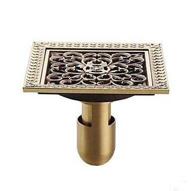 BL@ Bathroom Accessory Antique Brass Finish Solid Brass Floor Drain