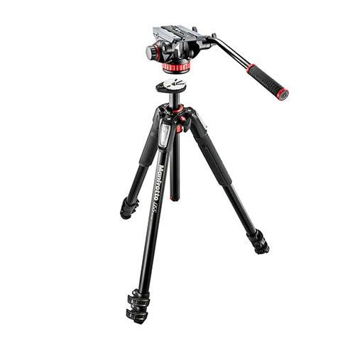Manfrotto MT055XPRO3 Aluminium Tripod Legs with MVH502AH Video Head Tripods & Monopods at amazon