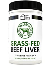 Beef Liver Capsules by Best Bone Broth (120 Capsules Per Bottle) - Freeze Dried Pure Formula Beef Liver Supplements - Experience Memory Growth And Better Heart Health - Blood Booster
