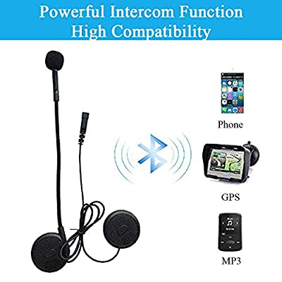 FreedConn L1M Casque Moto Bluetooth Casque écouteur Casque étanche Interphone Interphone intégré Mic, équipement de Communication de Conduite Moto High-tech