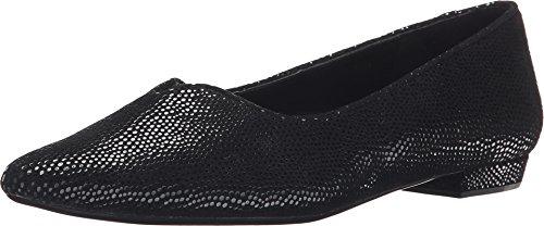 VANELi Ganet Pointy Toe Flats for Women Black (9 W (D), Black E-Print)