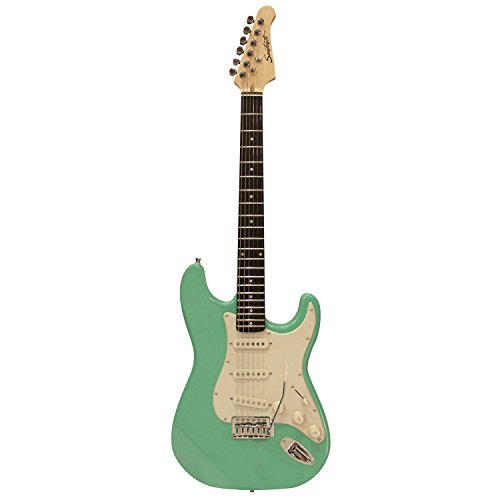 (Sawtooth Classic ES 60 Alder Body Electric Guitar - Surf Green with Aged White Pickguard)