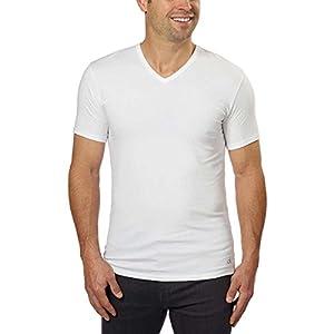Calvin Klein Cotton Stretch V-Neck, Classic Fit T-Shirt, Men's (3-pack) (White or Black) (White, Medium)