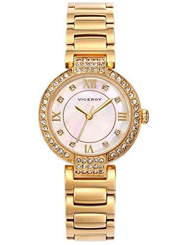 3f38c5614404 Viceroy reloj mujer dorado 471012-23  Amazon.es  Relojes