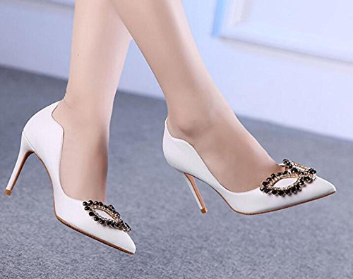 Large Ultra Women Heels Dance With Heeled Button White Nightclub Size High a Sandals With L Fine High YC pHPP1
