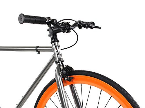 Golden Cycles Fixed Gear Bike Steel Frame Fixie with Deep V Rims Collection (Blaze, 41)