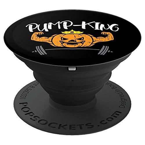 Pump-King Pumpkin Pun Halloween Costume Gym Weightlifting