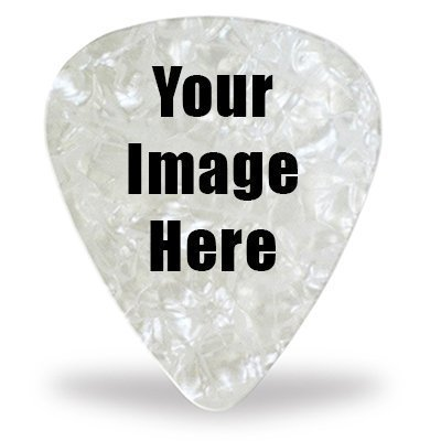 5 Custom Guitar Picks - Pearl Celluloid - Your Own Logo or Design -