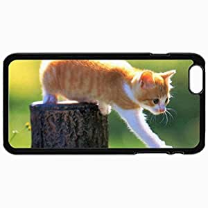Personalized Protective Hardshell Back Hardcover For iPhone 6 Plus, Cats 1801 1 Design In Black Case Color