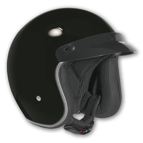Vega X380 Open Face Solid Black Scooter Helmet