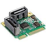 2 Ports SATA 6G mini PCI Express Controller Card mini PCI-e to SATA III 3.0 converter half-size to full-size bracket SATA3.0