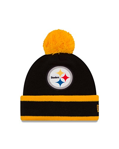 NFL Pittsburgh Steelers Team Relation Knit Beanie, One Size, Black