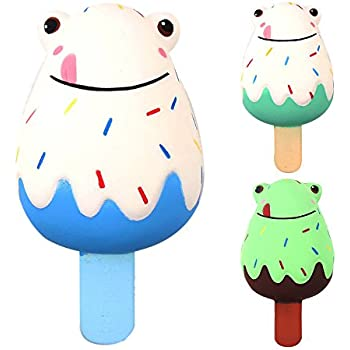 DIGOOD Squishies Frogs Ice Cream Scented Slow Rising Squeeze Toys Stress Reliever Toys