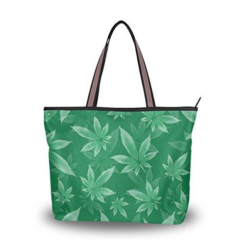 Alaza Cannabis Marijuana À tout De Grand D'épaule Fourre Main Sac Feuilles rUp0r1
