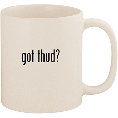 got thud? - 11oz Ceramic White Coffee Mug Cup, White