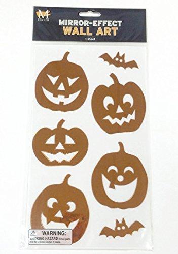 Mello Smello Mirror-Effect Pumpkin Wall Art -