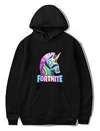 EMILYLE Kids' Fortnite Hoodie Children's Gaming Pullover Sweatshirt Long Sleeve