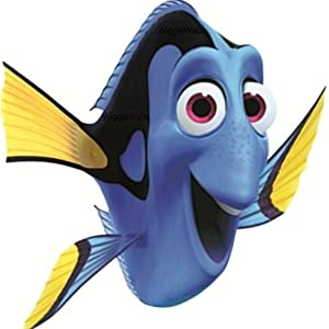 5 INCH Dory Fish Finding Nemo 2 Movie Removable Peel Self Stick Wall Decal Sticker Art Bathroom Kids Room Walt Disney Pixar Home Decor Boys Girls 4 inches wide by 5 3/4 inches tall